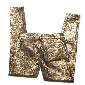 CARMAR Gold Foil Fashion Pants